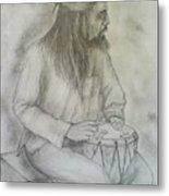 Drum Player Metal Print