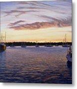 Dusk At Stonington Harbor Metal Print