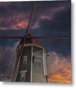 Dutch Windmill In Lynden Washington State At Sunset Metal Print