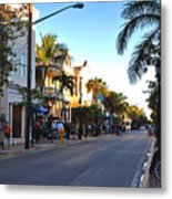 Duval Street In Key West Metal Print by Susanne Van Hulst