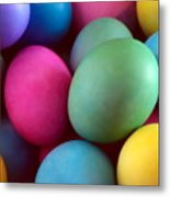 Dyed Easter Egg Abstract Metal Print