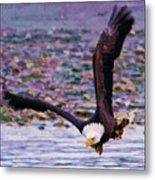 Eagle On A Mission Metal Print