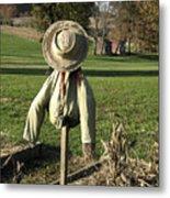 Early Autumn Scarecrow Metal Print