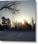 Early January Winter Sunrise Metal Print