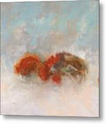 Early Morning Herd Metal Print by Frances Marino