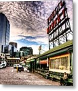 Early Morning Market Metal Print