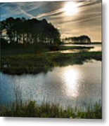 Early Morning On Beach Drive II Metal Print by Steven Ainsworth