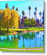 Early Morning Tee Time Metal Print