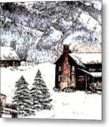 Early Snowfall Metal Print