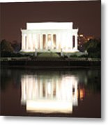 Early Washington Mornings - Lincoln Reflecting Metal Print