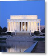 Early Washington Mornings - The Lincoln Memorial Metal Print