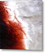 Earth's Arteries Metal Print
