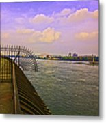 East River View Looking North Metal Print
