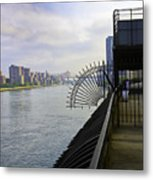 East River View Looking South Metal Print