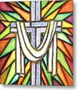 Easter Cross 5 Metal Print