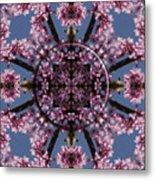 Eastern Red Bud Mandala Metal Print