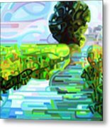 Ebb And Flow - Coppped Metal Print