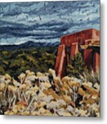 Echoes Of Tularosa, Museum Hill, Santa Fe, Nm Metal Print by Erin Fickert-Rowland