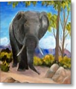Eddy Elephant Metal Print