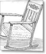 Effie's Chair Metal Print