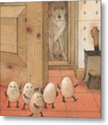 Eggs And Dog Metal Print