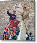 Egypt - Boy With A Camel Metal Print