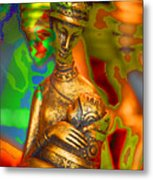 Egyptian Woman And Child Metal Print