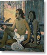 Eiaha Ohipa Or Tahitians In A Room Metal Print