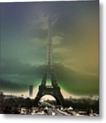 Eiffel Haze Metal Print by Menucha Citron