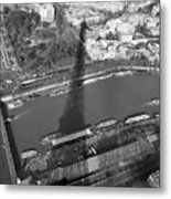 Eiffel Tower Shadow Metal Print