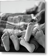 Eight Human Feet Metal Print by Christian Gstöttmayr