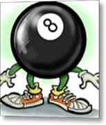 Eightball Metal Print