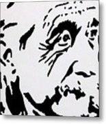 Einstein Waiting In Line Metal Print