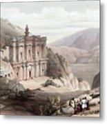 El Deir Petra 1839 Metal Print