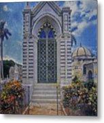 Elaborate Mausoleum  Colon Cemetery Havana Cuba Espada Cemetery Metal Print