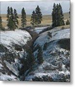 Elberton Cliffs In Winter Metal Print