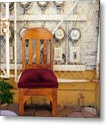 Electric Chair Metal Print