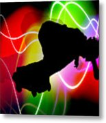Electric Spectrum Skateboarder Metal Print