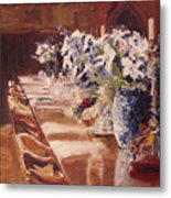 Elegant Dining At Hearst Castle Metal Print