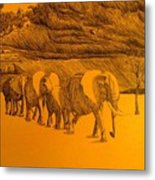 Elephant Walk Metal Print