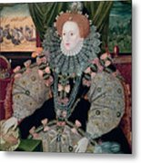 Elizabeth I Armada Portrait Metal Print by George Gower