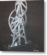 Elliptical Gears Metal Print