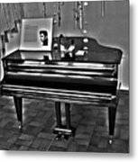 Elvis And The Black Piano ... Metal Print