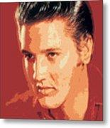 Elvis Presley - The King Metal Print