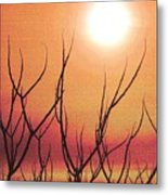 Embracing The Sun 32 Metal Print