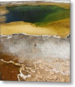 Emerald Pool - Yellowstone National Park Metal Print