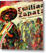 Emiliano Zapata Inmortal Metal Print