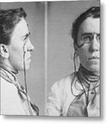Emma Goldman 1869-1940 Mugshots. She Metal Print