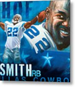 Emmit Smith Hof Metal Print