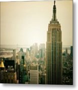 Empire State Building New York Cityscape Metal Print